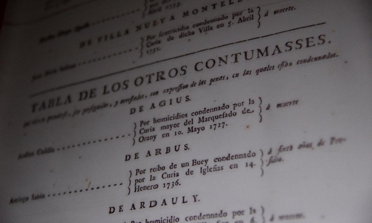 materiale storico al museo del banditismo di Aggius, in Sardegna