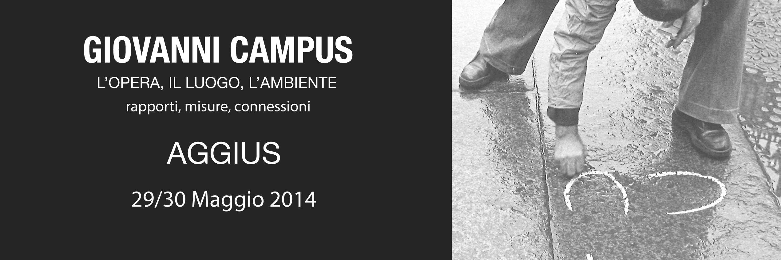 Giovanni Campus – Allestimento installazioni – 29/30 MAGGIO
